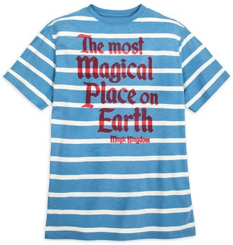 Disney Walt World Striped Jersey T-Shirt for Men by Junk Food