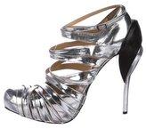 Ungaro Metallic Caged Sandals