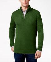 Geoffrey Beene Men's Big & Tall Quarter Zip Sweater