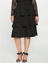 ELOQUII Plus Size Tiered Ruffle Midi Skirt