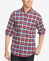 Izod Men's Plaid Button-Down Long-Sleeve Shirt