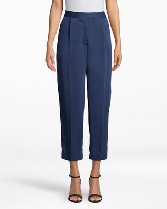 Nicole Miller Satin Back Crepe Trouser Pant