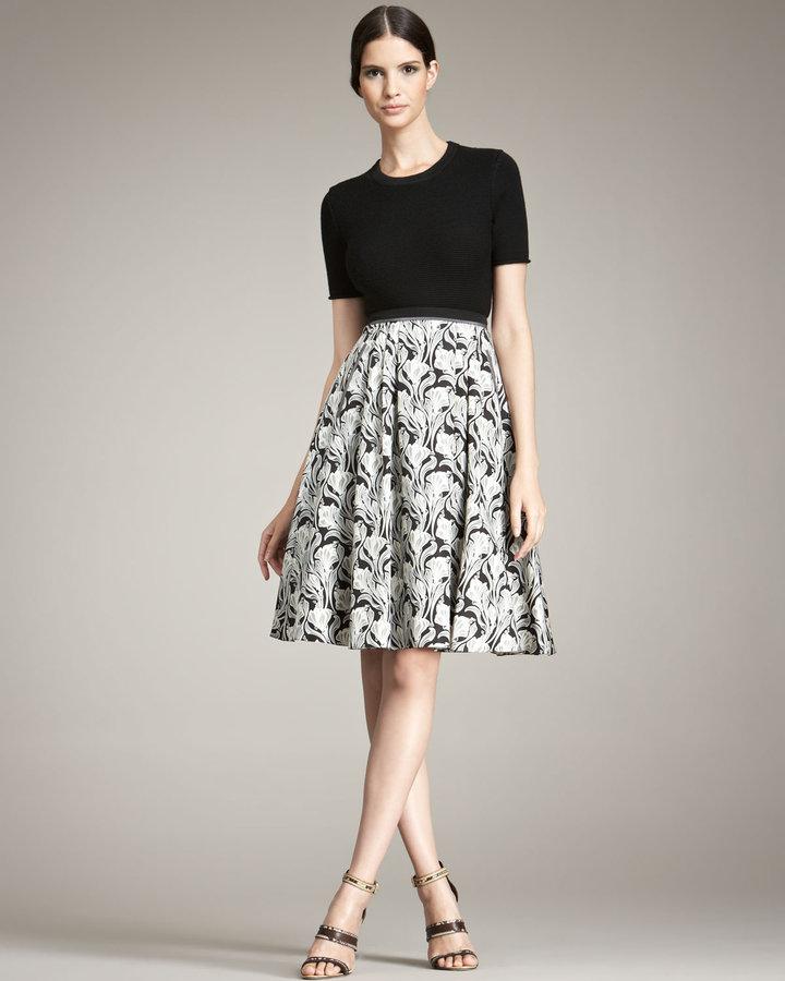 Jason Wu Floral-Print Silk Skirt