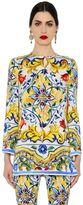 Dolce & Gabbana Maiolica Printed Charmeuse Tunic