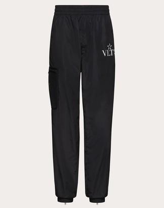 Valentino Vltnstar Cargo Pants Man Black/white Polyamide 100% 46