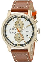 Ted Baker Vintage Collection Custom Chronograph Date Leather Strap Watch