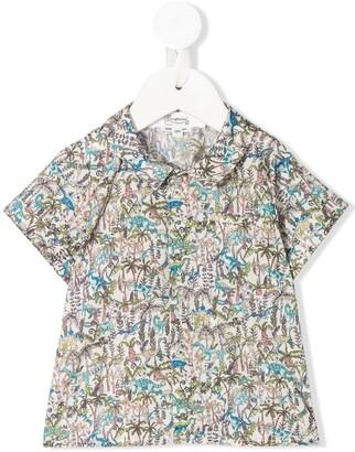 Bonpoint Dinosaur-Print Shirt