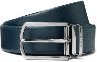 HUGO BOSS 3cm Textured-Leather Belt