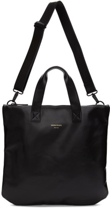 Common Projects Black Leather Utility Tote