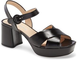 Prada Crisscross Platform Sandal