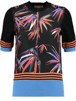 Emilio Pucci Cotton-Paneled Printed Silk-Twill Top