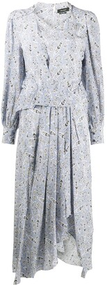 Isabel Marant Paisley Print Silk Midi Dress