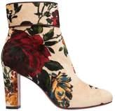 Christian Louboutin Moulamax 85 Velvet Ankle Boots
