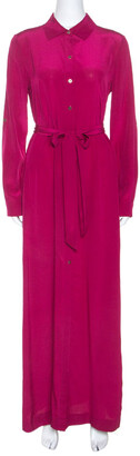 Diane von Furstenberg Pink Silk Amina Shirt Dress S