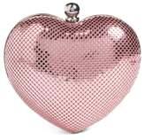 Whiting & Davis 'Charity Heart' Minaudiere - Pink