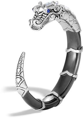John Hardy Legends Naga Hematite Kick Cuff, Medium