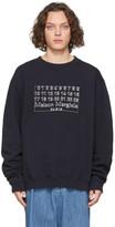 Maison Margiela Navy Diagonal Sweatshirt