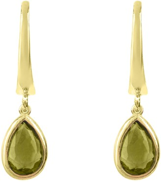 Latelita Pisa Mini Teardrop Earring Gold Peridot