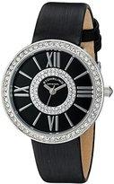 Stuhrling Original Women's 566.02 Vogue Analog Display Quartz Black Watch