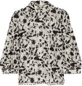 Zimmermann Embellished embroidered cotton and silk-blend organza blouse