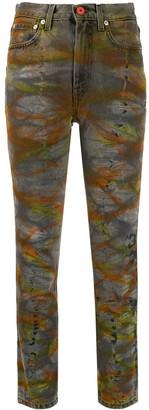 Heron Preston tie-dye tapered jeans