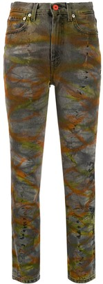 Heron Preston Tie-Dye Tapered Jeans