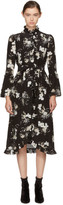 Erdem Black & Ecru Siren Dress