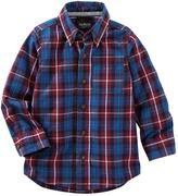 Osh Kosh Boys 4-8 Plaid Button-Down Long Sleeve Shirt