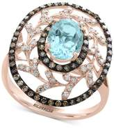 Effy Final Call by Aquamarine (1-1/5 ct. t.w.) and Diamond (1/2 ct. t.w.) Statement Ring in 14k Rose Gold