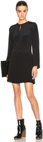 3.1 Phillip Lim Bell Sleeve Silk Wrap Dress with Keyhole Front