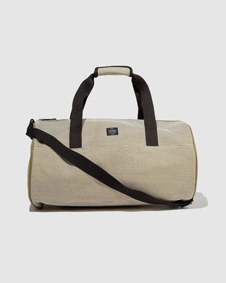 Typo - Brown Weekender - Canvas Barrel Bag - Size One Size at The Iconic