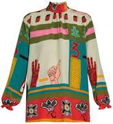 Valentino Counting Three Printed Blouse