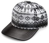 Gents Aztec Leather Cap