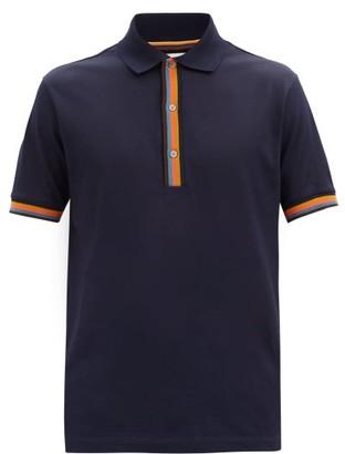 Paul Smith Artist-stripe Cotton-pique Polo Shirt - Dark Navy