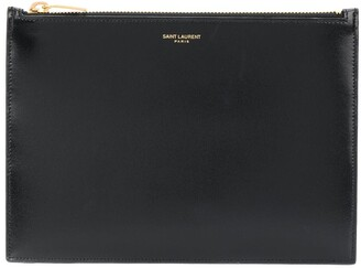 Saint Laurent Embossed Logo Clutch
