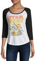 Fifth Sun 3/4 Sleeve Scoop Neck Star Wars Graphic T-Shirt