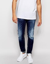 Antony Morato Mid Wash Jeans In Super Skinny Fit - Blue