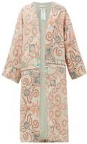 Etro Malva Paisley-print Silk Robe - Womens - Pink Multi