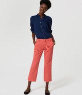 LOFT Petite Straight Crop Jeans in Chrysanthemum Red
