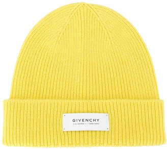 Givenchy Logo-Patch Beanie