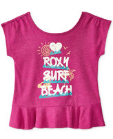 Roxy Ruffled T-Shirt, Little Girls (2-6X)