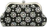 Women's Floral Beaded Clutch -Black