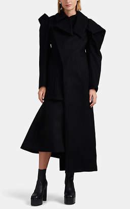 Yohji Yamamoto Women's Wool Felt Asymmetric Coat - Black