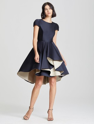 Halston Dramatic Skirt Dress