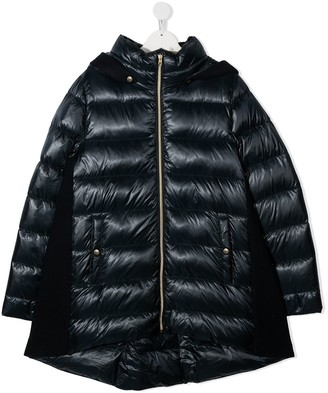Herno TEEN hooded quilted jacket