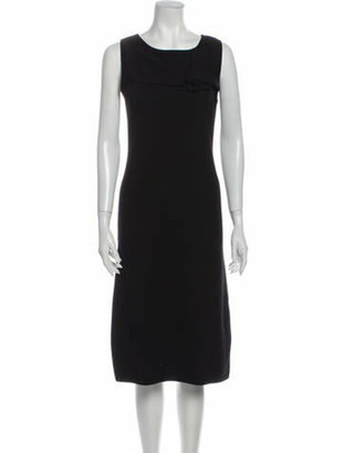 Valentino Merino Wool Midi Length Dress Wool