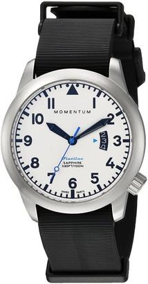 Momentum Men's 1M-SP18LS11B Flatline 42 Analog Display Quartz Black Watch