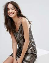 Pull&Bear Sequin Cami Dress