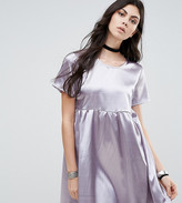 Glamorous Tall Pleated Satin Skater Dress