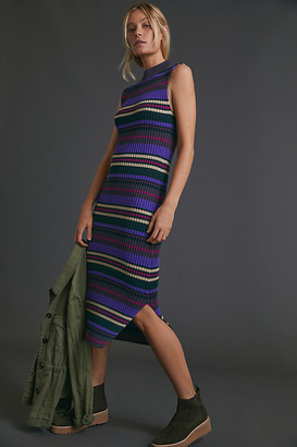 Anne Ribbed Midi Dress By Dolan Left Coast in Assorted Size 1 X